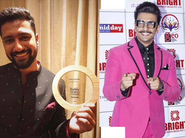 Ranveer Singh and Vicky Kaushal Forbes