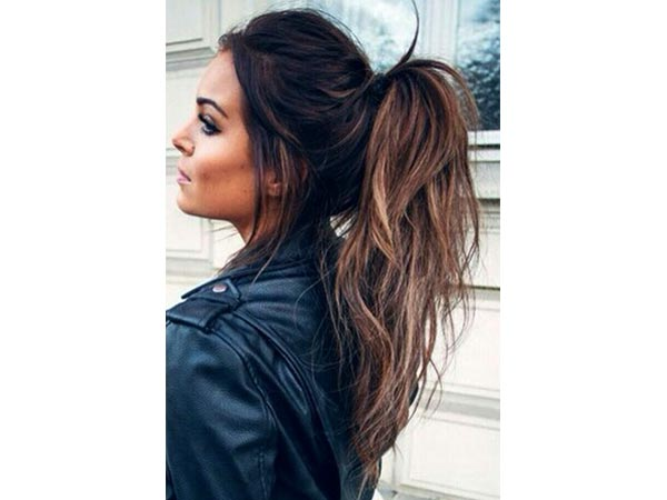 Curly/Wavy Ponytail