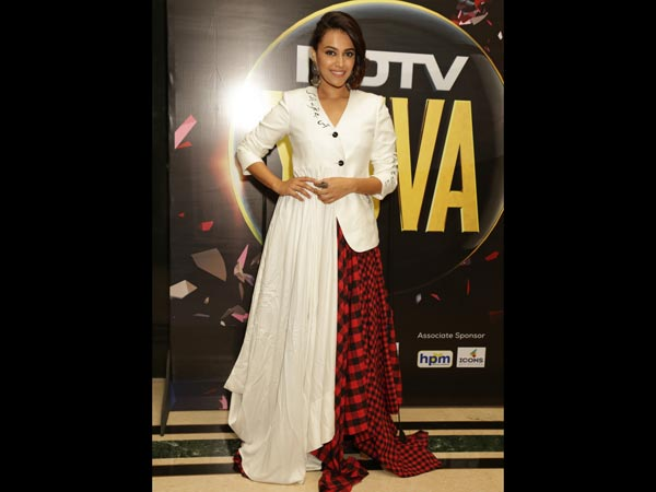 Swara Bhasker's Fusion Outfit Combine Eye-Catching Contrasting Details