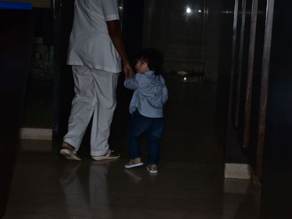 Taimur Ali Khan Stuns In A Formal Wear As He Visits His Sister Inaaya Naumi Khemu