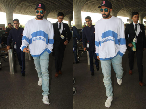 Abhishek Bachchan Adds A Touch Of Swag To His Latest Airport Look