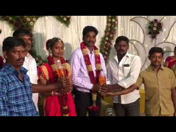 5 L Petrol Was Gifted To This Newly Wed Couple