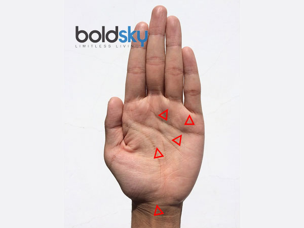 A Triangle On Any 5 Places Of Your Palm Means This