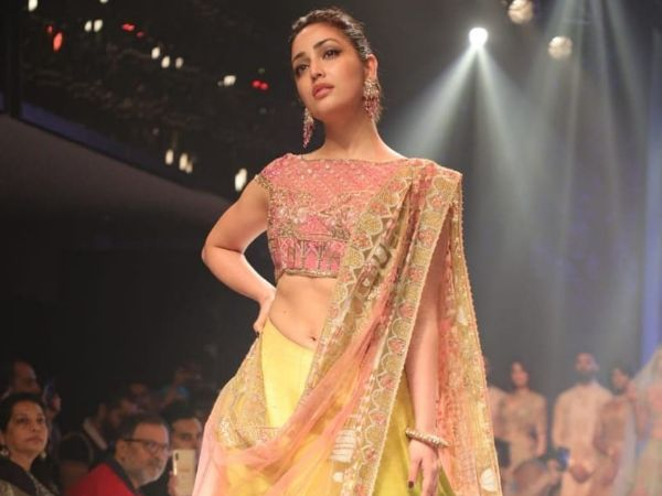 Yami Gautam's Vibrant Bridal Lehenga At Delhi Times Fashion Week Is Inspired By Whimsical Moonlight