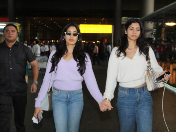 Janhvi And Khushi Kapoor Again Co-ordinated Their Outfits And Gave Us Cool Winter-wear Ideas