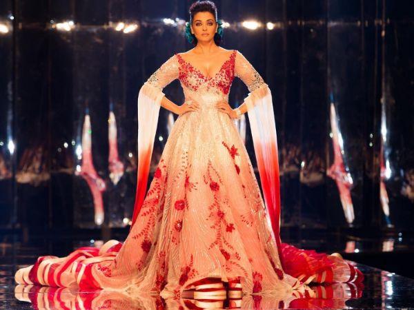 Aishwarya Rai Bachchan Manish Malhotra Showstopper Gown In Doha -  Boldsky.com