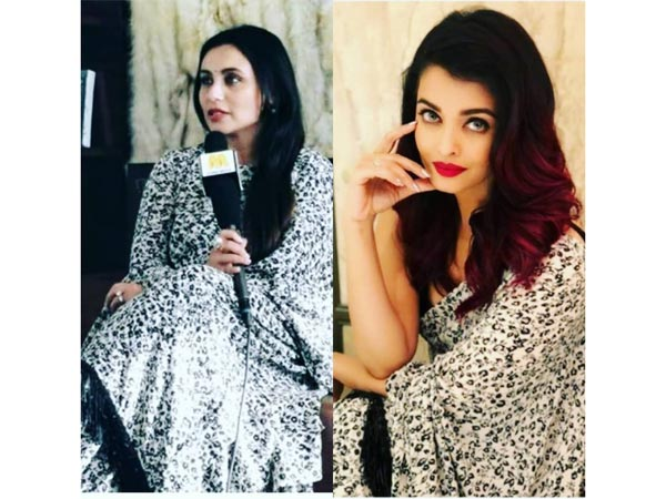 When Rani Mukerji And Aishwarya Rai Bachchan Wore The Same Sabyasachi Sari
