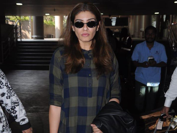 Raveena Tandon's Airport Look Is About Laidback Comfort And Muted Hues