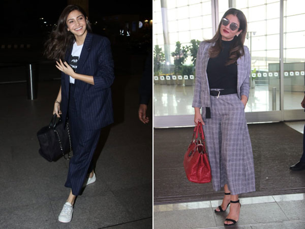 Anushka Sharma & Raveena Tandon's Airport Outfits Are The Brand New Jet-setting Attire Goals
