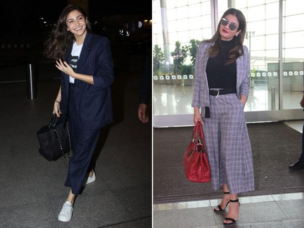 Anushka Sharma & Raveena Tandon's Airport Outfits Are The Brand New Jet-setting Attire Goals