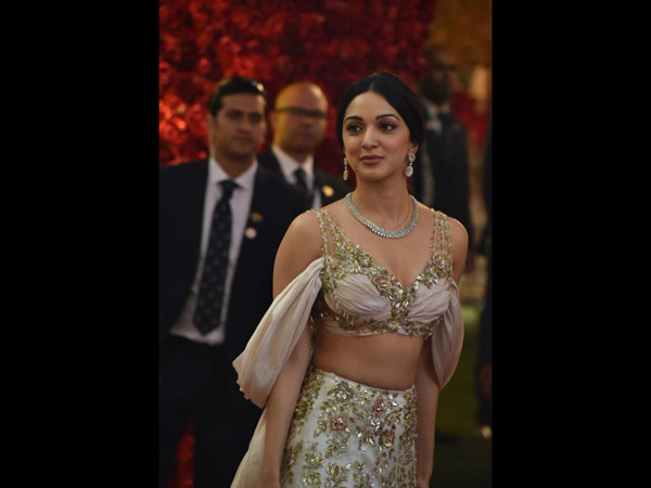 Kiara Advani Looks Radiant In An Embellished Lehenga As She Graces Isha Ambani's Wedding