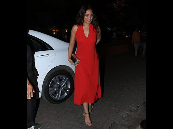 Sonakshi Sinha Oozes High-fashion And Oomph In This Red Dress