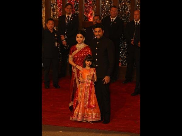 Aishwarya, Abhishek, And Aaradhya Were The Epitome Of Sartorial Perfection At Isha Ambani's Wedding