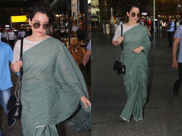 Kangana Ranaut's Green Sari Will Totally Inspire You To Go Sari-shopping