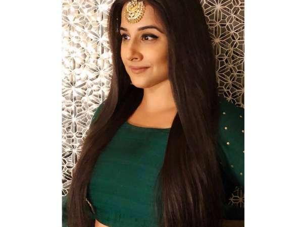 Vidya Balan Goes Green And Regal For Isha Ambani's Wedding Festivities