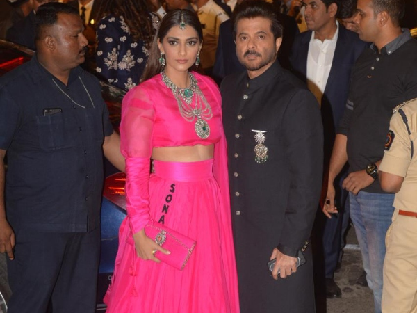 Father-Daughter, Sonam And Anil Kapoor Look Effortlessly Classy At Isha Ambani's Wedding