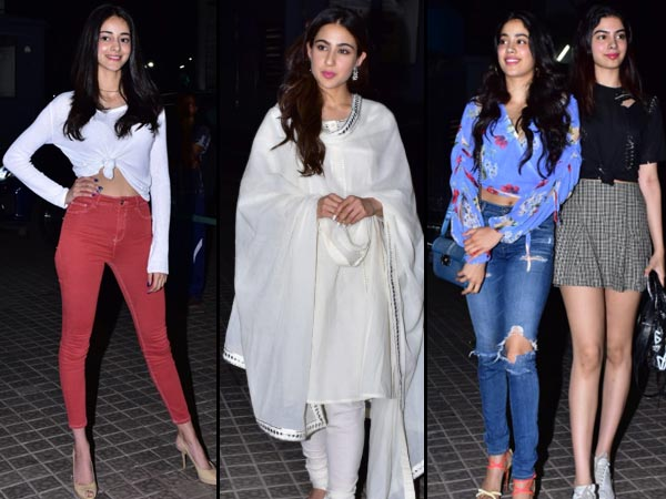 What Did Sara, Janhvi, Ananya, And Khushi Wear For 'Kedarnath' Screening Event?