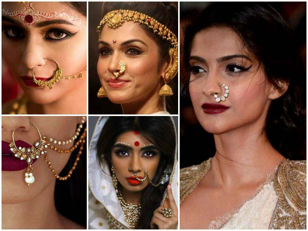 Indian Women Wear Nose Rings