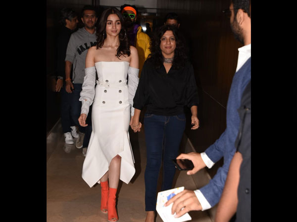 Alia Bhatt Woos In Her White Dress At Gully Boy Trailer Launch