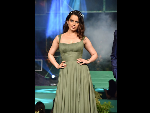 Kangana Ranaut Promotes Eco-friendly Fashion With This Green Gown