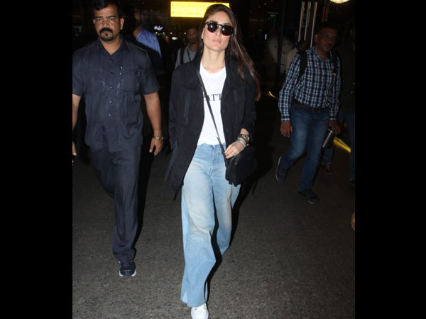 Kareena Kapoor Khan's Latest Airport Look Is Laidback And About Flared Denims