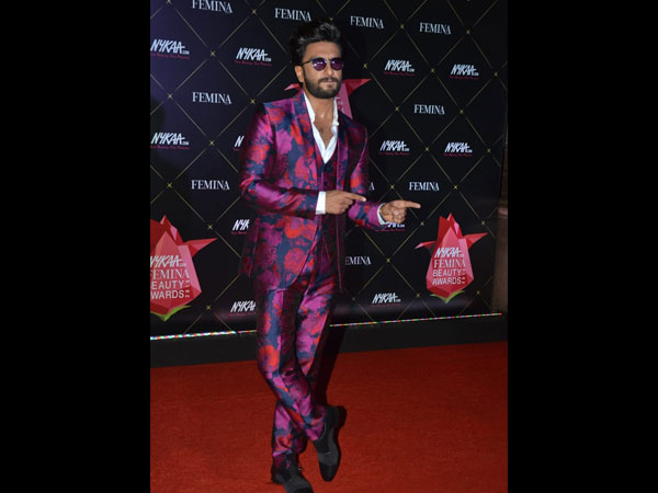 Ranveer Singh Nykaa Femina Beauty Awards 2019