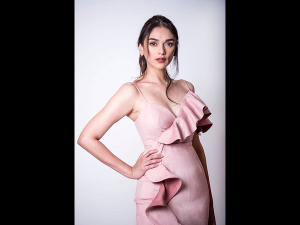 Aditi Rao Hydari Looks Refreshingly Beautiful In This Ruffled Pink Gown
