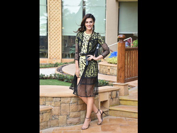 Kriti Sanon's Yellow Printed Dress Is Perfect For Chilled Out Cafe Outing With Friends