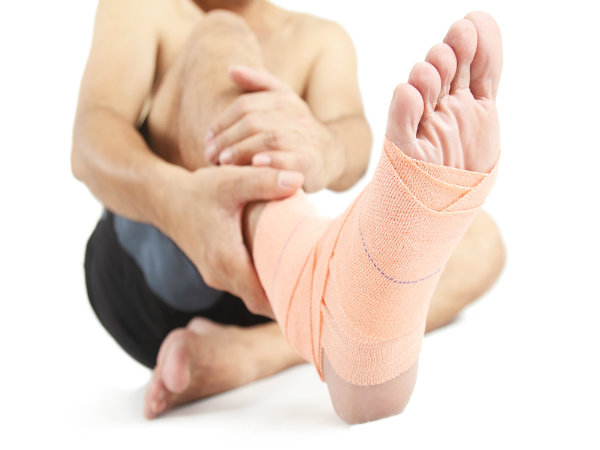 Using A Compression Wrap For Sprained Ankle