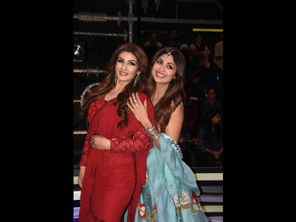 Shilpa Shetty's Floral Lehenga Or Raveena Tandon's Fusion Sari: Which Attire Would You Pick?