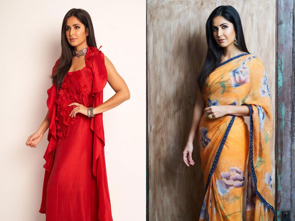 Mandarin Sari Or Fiery Red Outfit: Which Ensemble Of Katrina's Wooed You More?