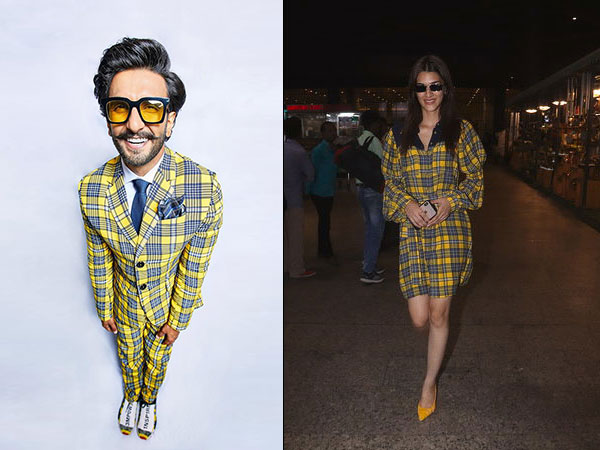 Wow! Ranveer Singh & Kriti Sanon Totally Beckoned Us To Play With Plaids