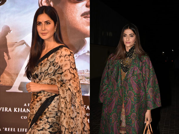 Of Draping and Layering, Katrina & Sonam Were Spotted In Sabyasachi Outfits