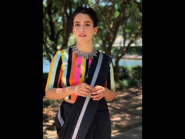 Sanya Malhotra's Latest Sari Is So Indie And That Colourful Blouse Has All Our Attention