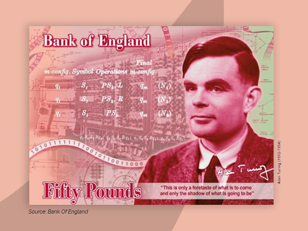 Gay Mathematician Alan Turning's Face To Feature On Britain's New £50 Banknote