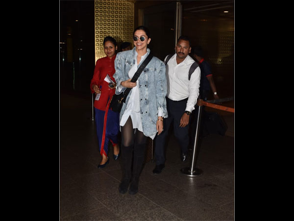 Deepika Padukone's Latest Airport Look Is All Things Cool And Comfy