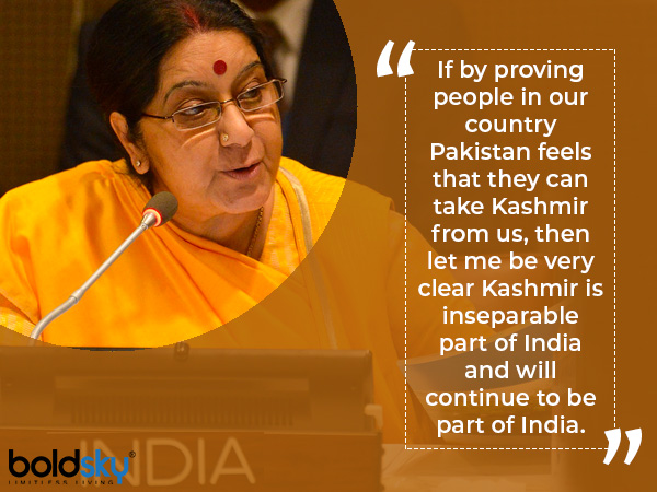 sushma swaraj remarkable speeches