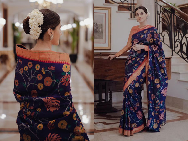 Taapsee Pannu's Exquisite Floral Paithani Sari Is What Your Wardrobe Needs
