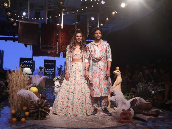 LFW W/F 2019 Day One: Farhan Akhtar And Shibani Dandekar Make A Vibrant Floral Splash