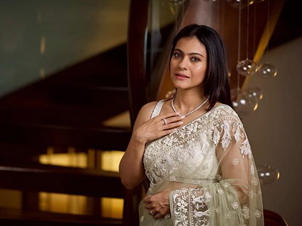 Kajol  Looks Picture-Perfect In Her Green Sari And Gives Her Look A Vintage Touch