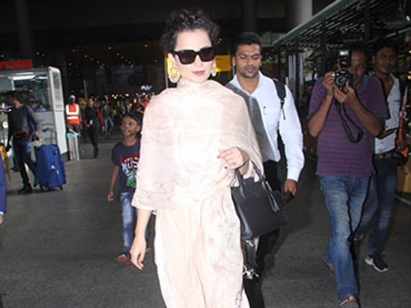 Kangana Ranaut's Traditional Airport Look Reminds Us Of Legendary Actress Rekha