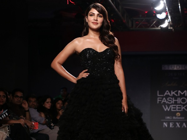 LFW W/F 2019 Day Four: Rhea Chakraborty Oozes Elegance In Her Old-Fashioned Black Gown