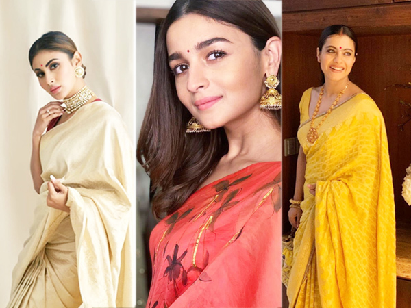 Bollywood actresses in saris