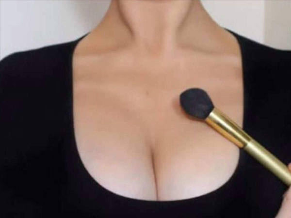 Breast Contouring - A Make-up Trick To Create The Illusion Of Bigger Breasts