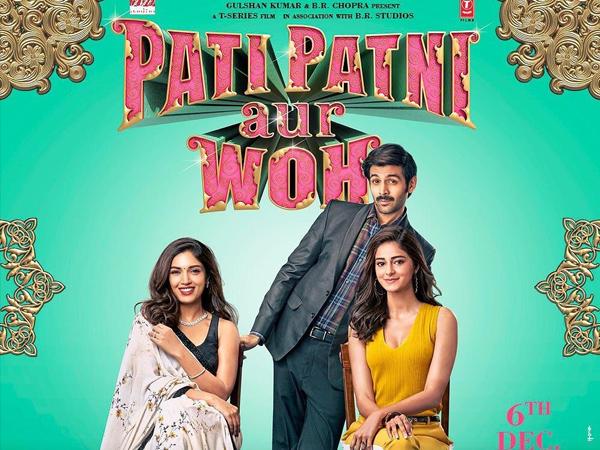 Pati Patni Aur Woh Poster: Kartik Aaryan, Bhumi Pednekar And Ananya Panday Flaunt Chic Outfits