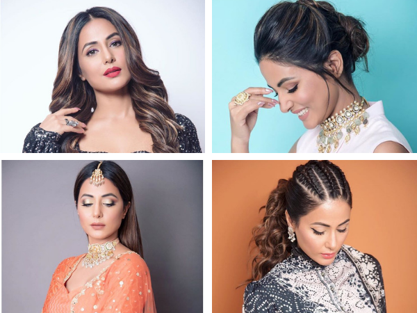 Hina Khan Has 4 Exalted Hairstyles For You To Rock This Festive Season