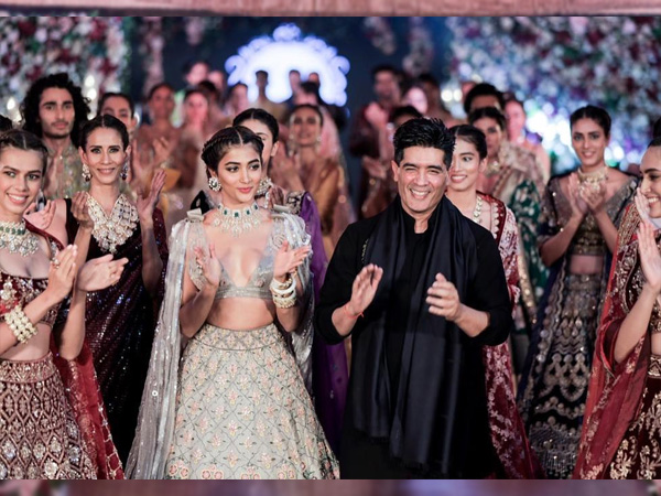 Housefull 4 Actress Pooja Hegde Walks The Ramp For Manish Malhotra In A Floral Lehenga