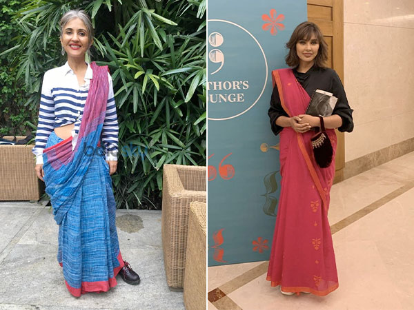 Lisa Ray And Anuja Chauhan Give Traditional Saris A Casual Spin At Bangalore Literature Festival