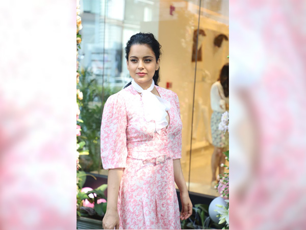 Kangana Ranaut Exudes Vintage Vibes With Her Pink Floral Dress