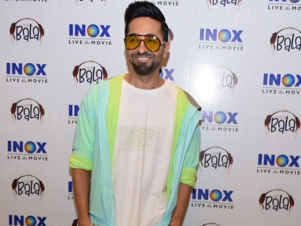 Ayushmann Khurrana Give His All-White Outfit An Interesting Update For Bala Screening
